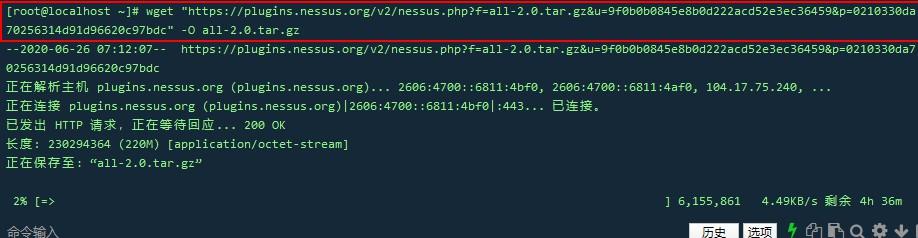 Centos7安装Nessus 8.10.1与破解